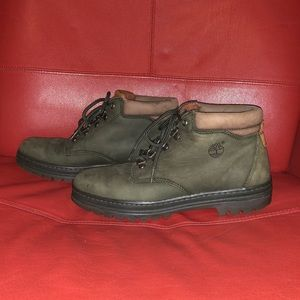 Timberland Army Green Booties